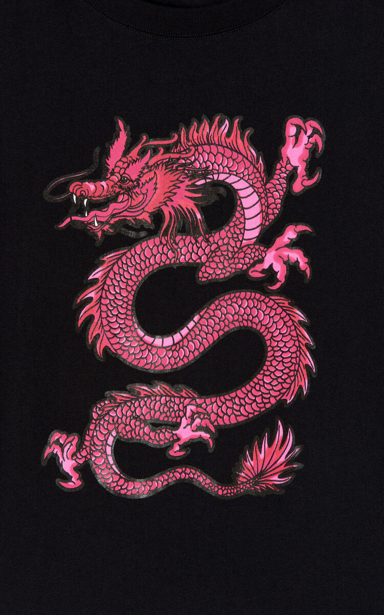 BLACK Dragon T-shirt for women KENZO