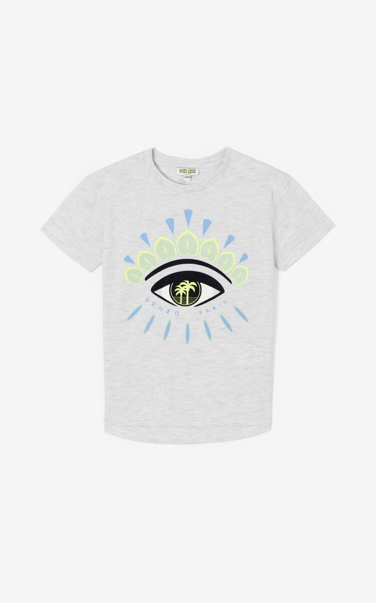 PALE GREY 'Cali Party' Eye T-shirt for men KENZO