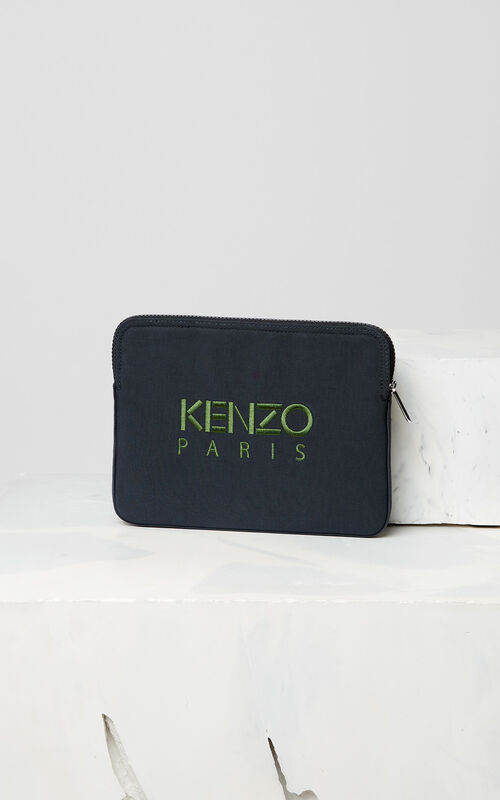 DARK GREY Tiger tablet sleeve for men KENZO