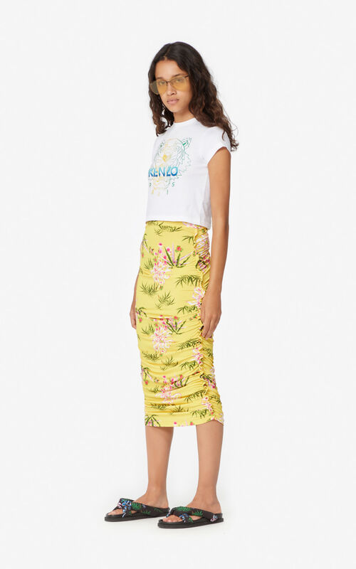 LEMON 'Sea Lily' midi skirt for women KENZO