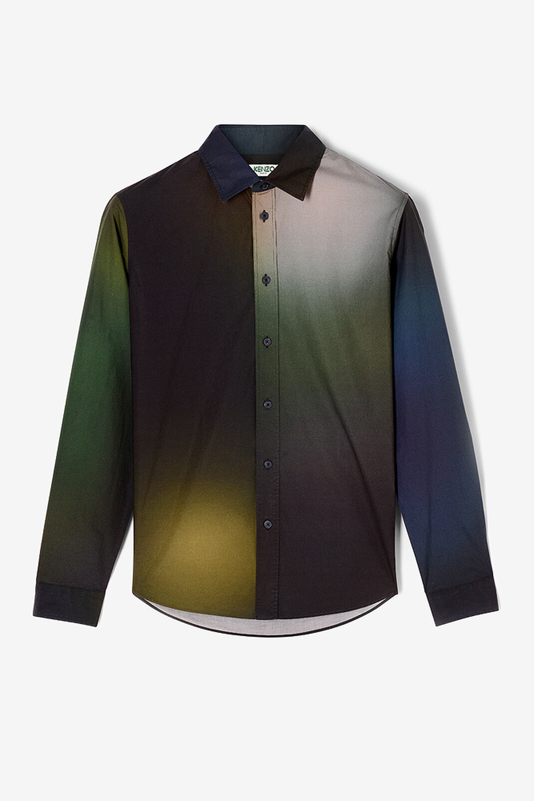 DARK KHAKI 'Northern Lights' Shirt for men KENZO