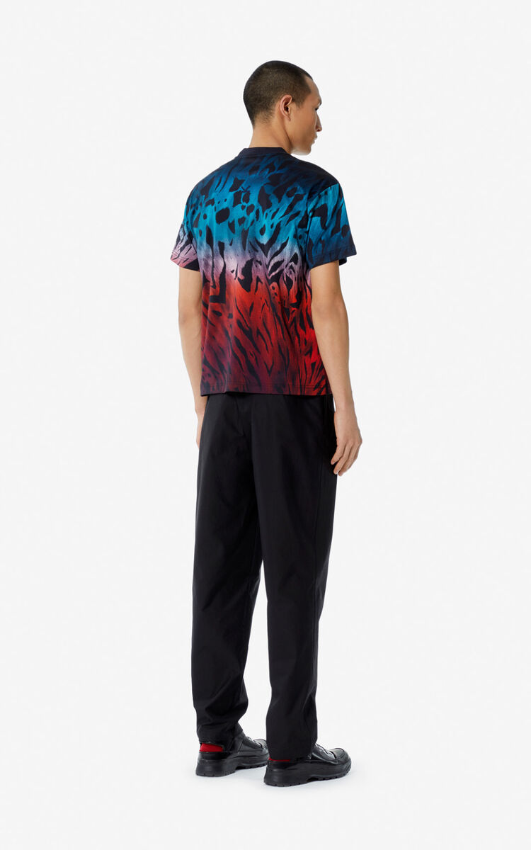 SLATE BLUE 'Tiger Vintage' T-shirt for women KENZO