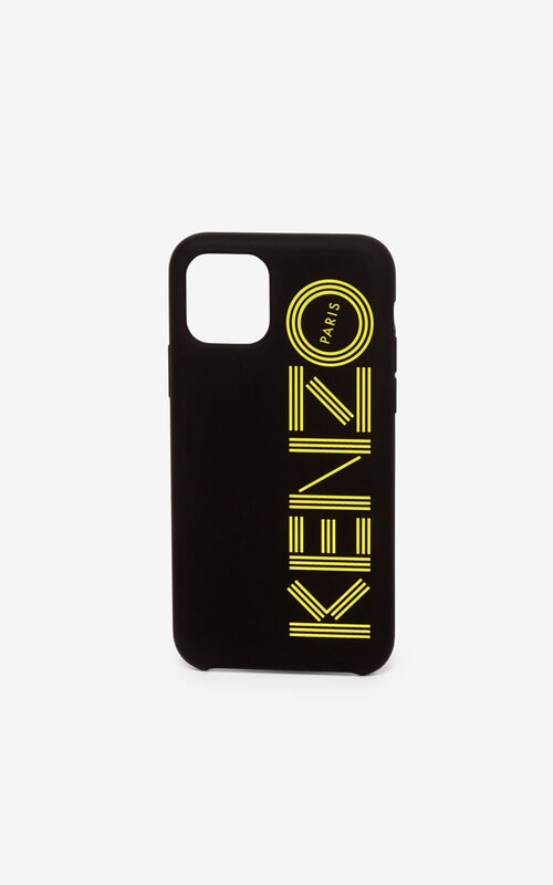 GOLDEN YELLOW KENZO logo iPhone XI Pro case for unisex