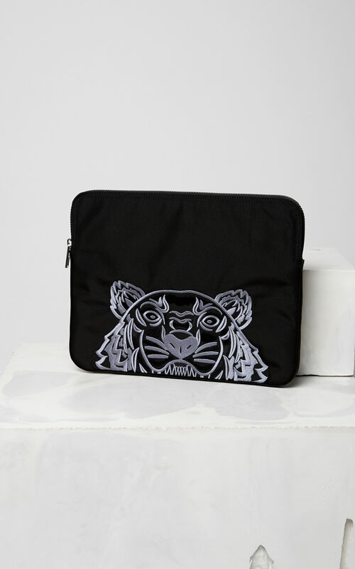 BLACK Tiger laptop sleeve for men KENZO