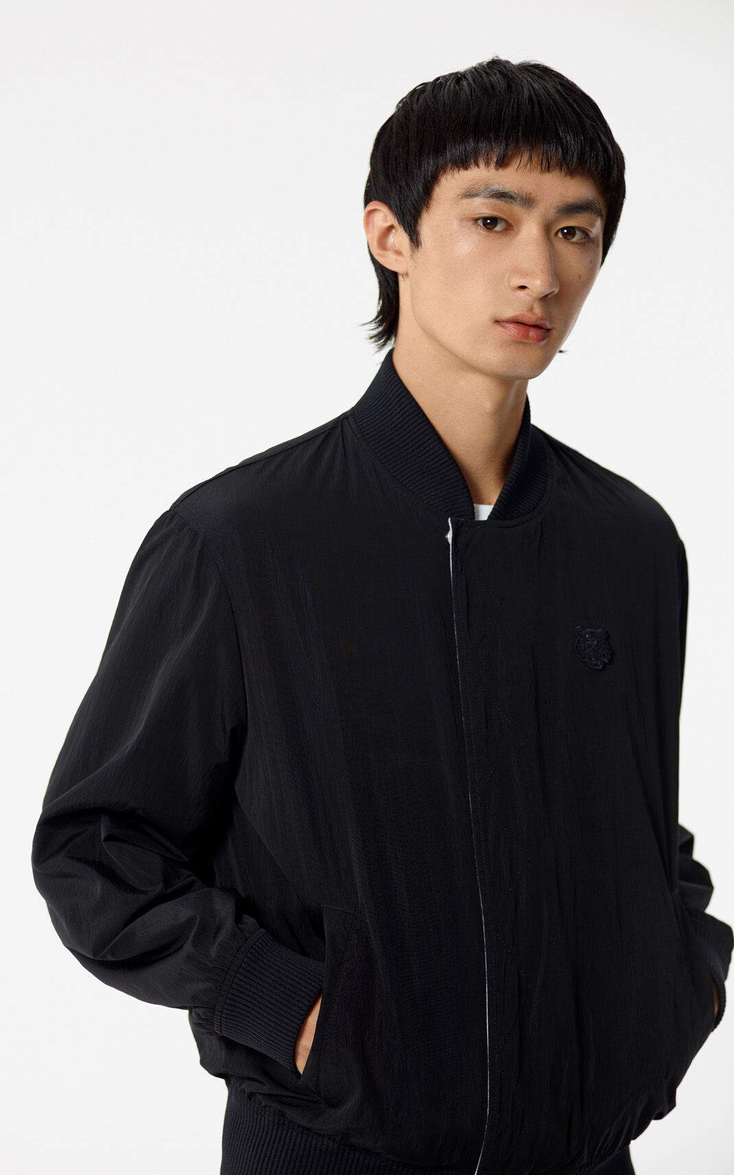 BLACK Reversible Tiger Bomber Jacket for men KENZO