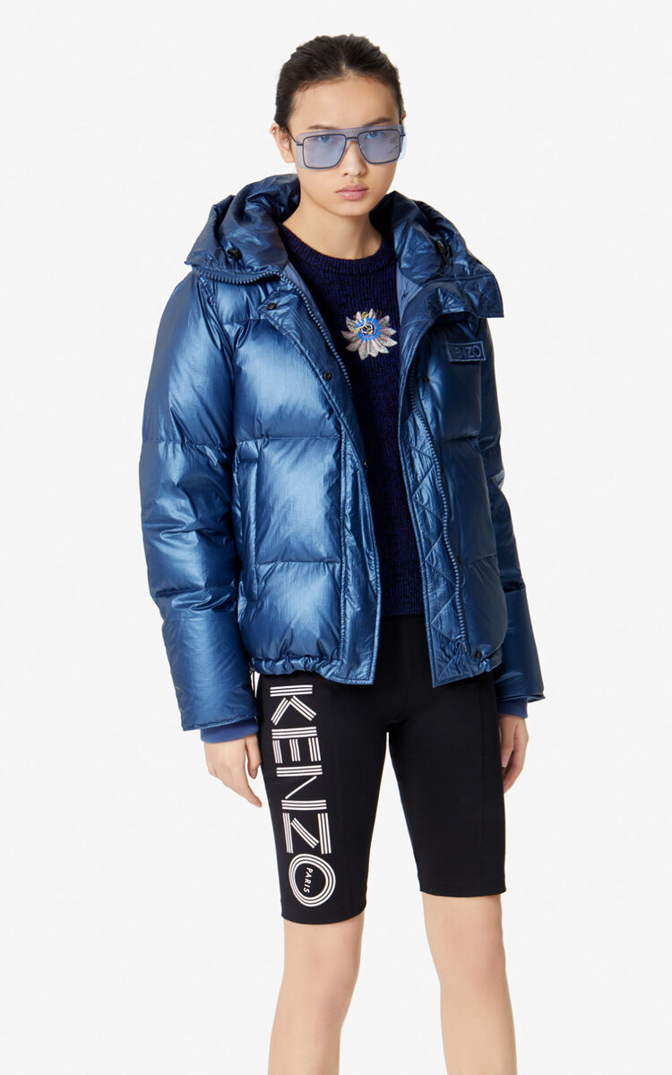 NAVY BLUE Quilted puffer jacket for women KENZO