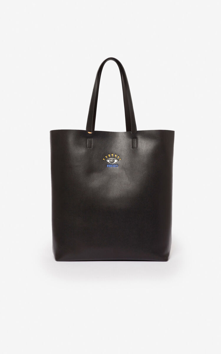 BLACK Eye tote bag for men KENZO