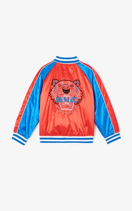 MEDIUM RED 'Dragon Celebration' Tiger Teddy jacket for women KENZO