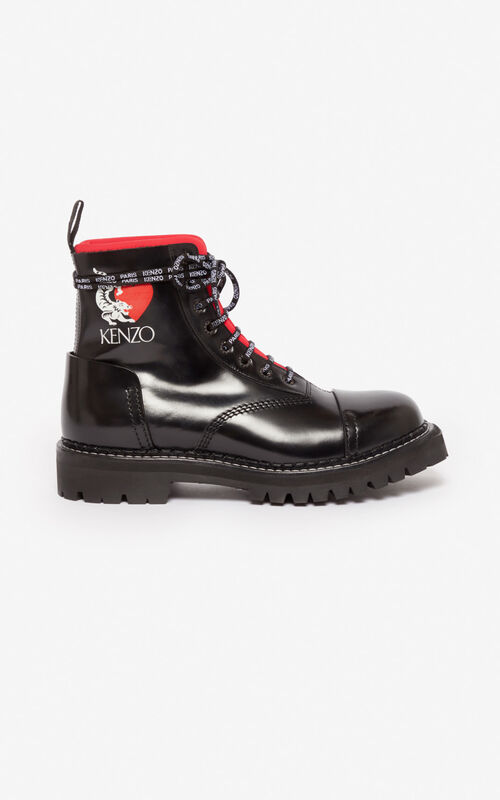 BLACK 'Lucky Tiger' Kamden boots for unisex KENZO