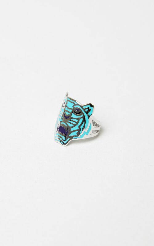 TURQUOISE Colored Tiger ring KENZO