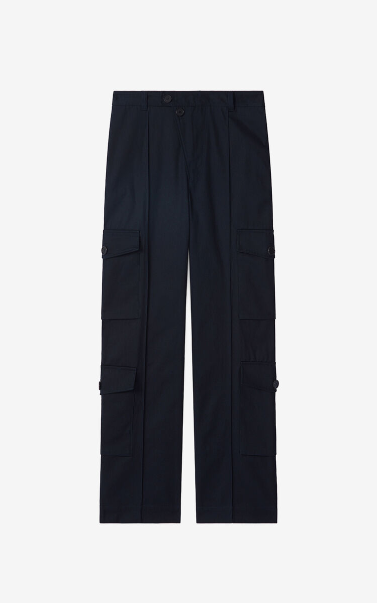 BLUE BLACK Cargo trousers for women KENZO