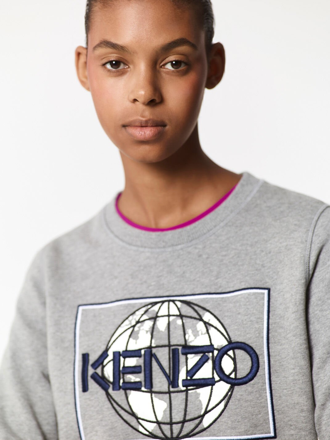 DOVE GREY Peace World' Sweatshirt  for women KENZO