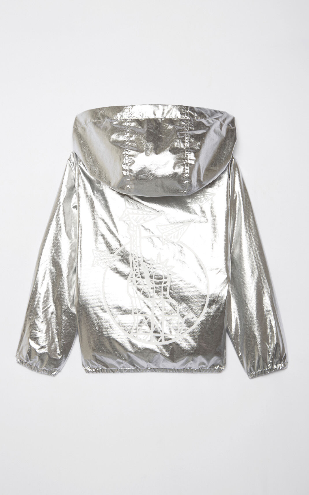 SILVER Iridescent 'Paper Planes' windbreaker for women KENZO