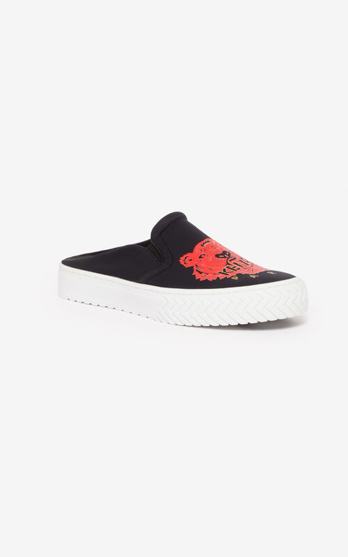 BLACK K-skate slip-on mules for unisex KENZO
