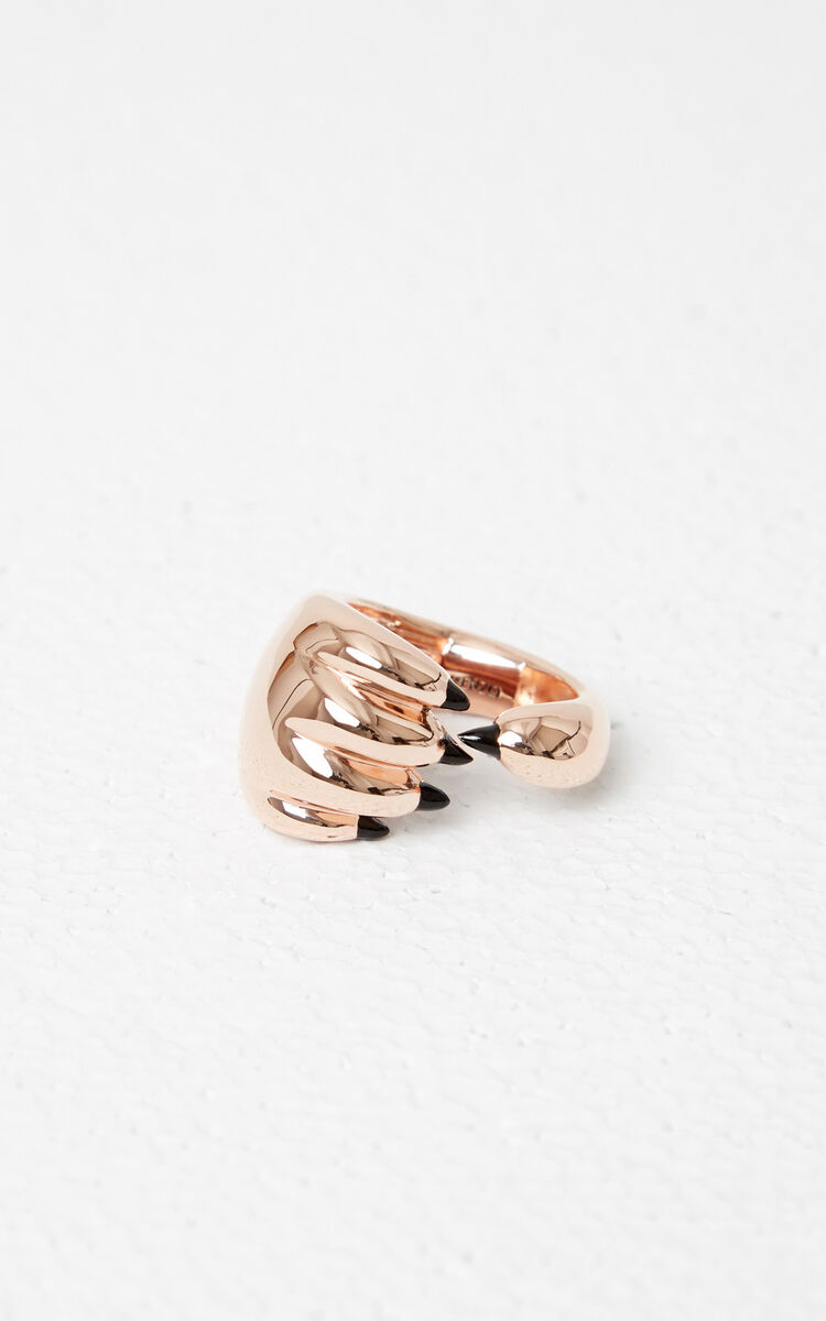GOLD Tiger Paw Ring for global.none KENZO