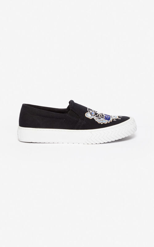 BLACK Slip-on K-Skate Tiger for men KENZO