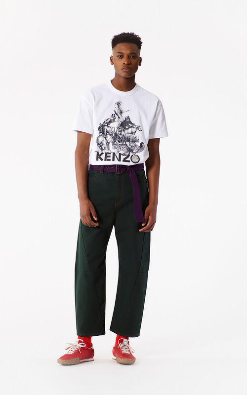 FERN Wid leg cropped pants for women KENZO