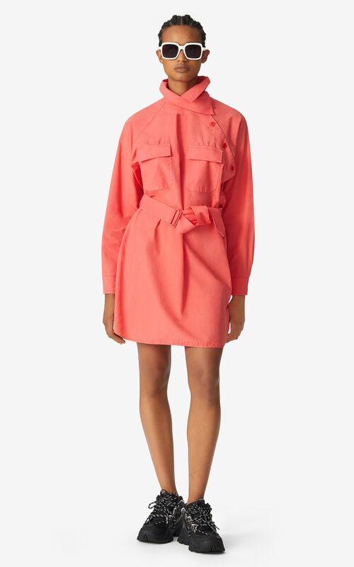 RED ORANGE Tunic dress for women KENZO
