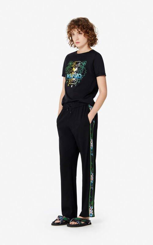 BLACK 'Wet Tiger' t-shirt for women KENZO