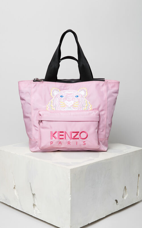 FLAMINGO PINK Tiger tote bag for unisex KENZO