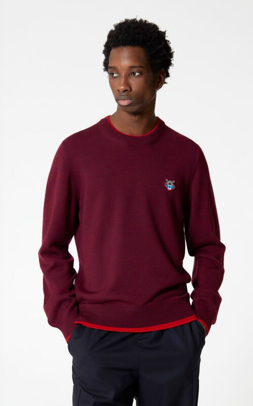 BORDEAUX Tiger jumper for men KENZO
