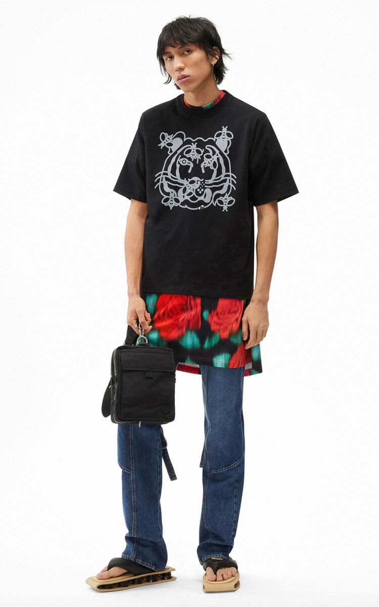 BLACK Bee a Tiger' T-shirt for men KENZO