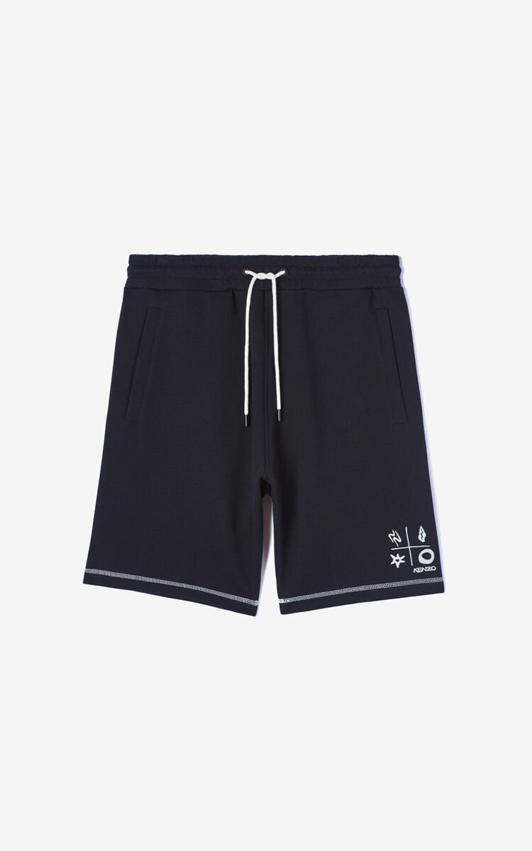 BLACK 'Compass' shorts for men KENZO