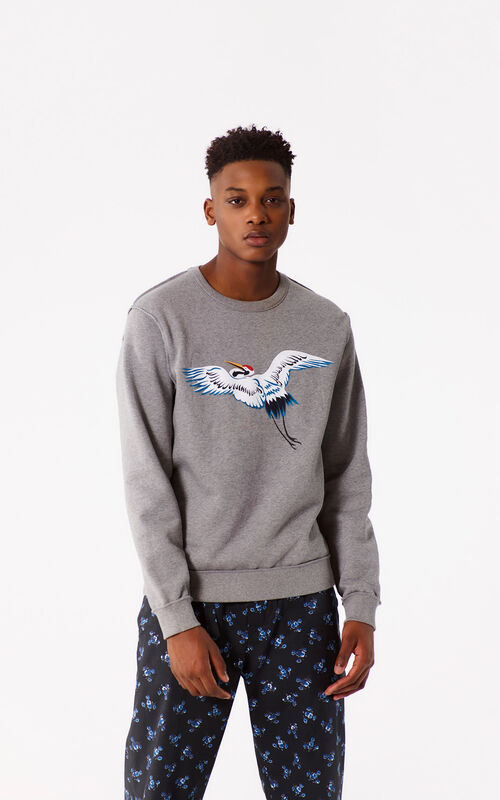 DOVE GREY Reversible KENZO Paris Sweatshirt for women