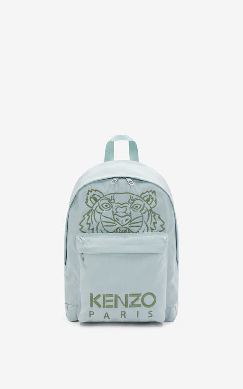 SAGE GREEN Kampus Tiger backpack for unisex KENZO
