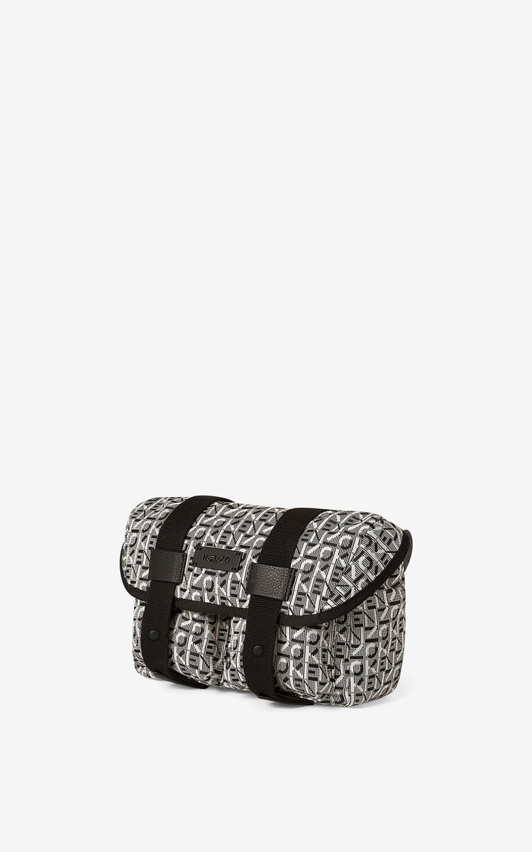 MISTY GREY Courier jacquard belt bag for unisex KENZO