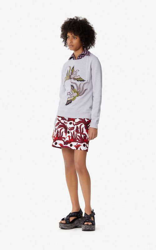 PALE GREY 'Flying Phoenix' sweatshirt for women KENZO