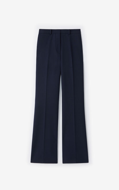 NAVY BLUE Flared trousers for unisex KENZO