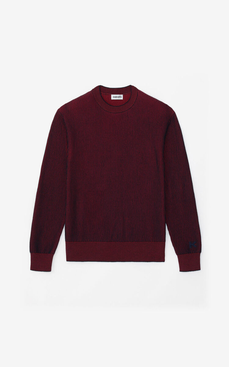 MAGENTA Two-tone jumper for men KENZO