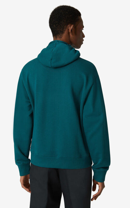 DUCK BLUE Tiger hoodie sweatshirt for men KENZO