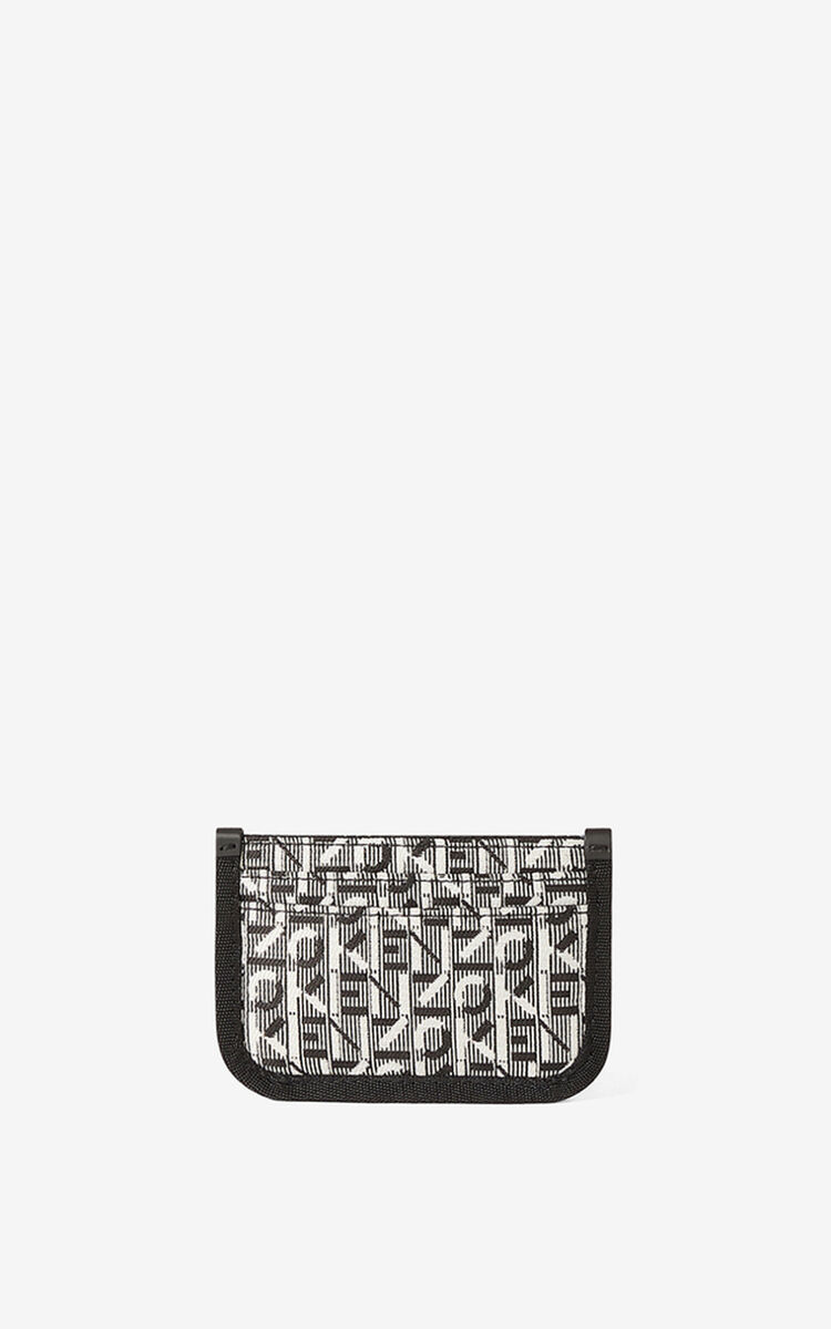 MISTY GREY Courier jacquard card holder for women KENZO