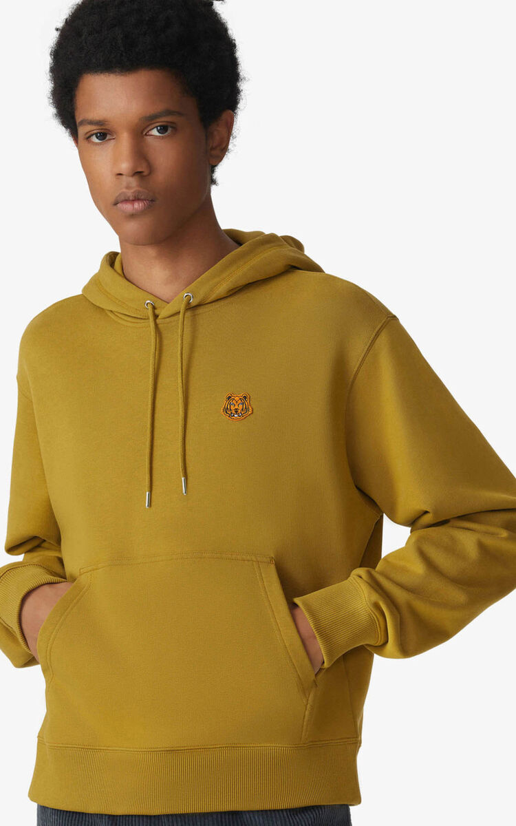PALE KHAKI Tiger Crest hoodie for men KENZO