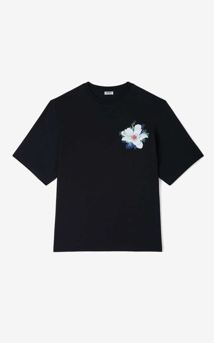 BLACK 'Tulipes' t-shirt for women KENZO
