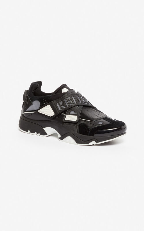 BLACK Sonic Velcro sneakers for women KENZO