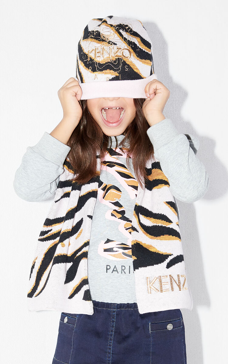 PEARL GREY Tiger Stripes 'beannie for women KENZO