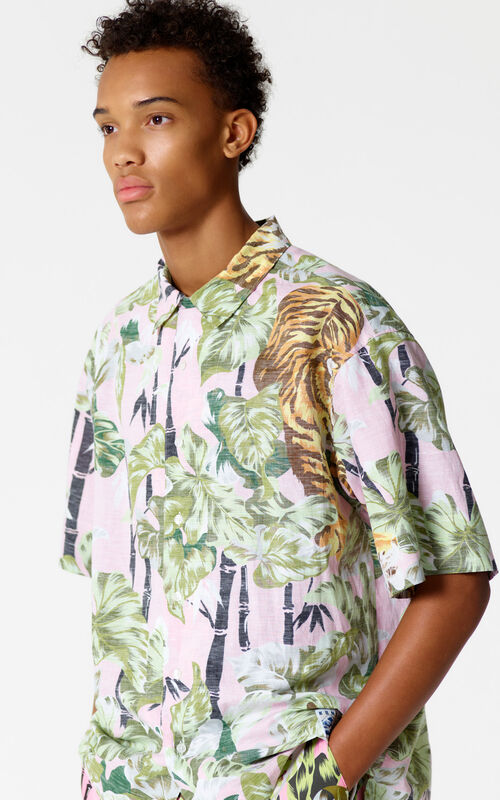 ROSE 'Bamboo Tiger' reversible shirt for men KENZO