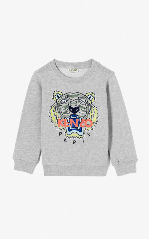 MIDDLE GREY Tiger sweatshirt for women KENZO