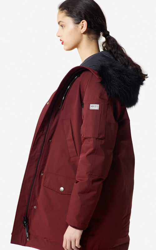 PRUNE Long hooded 'Puffa' parka for women KENZO
