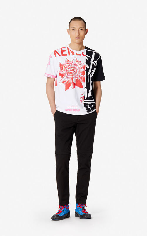WHITE 'Hyper Rice Bags' T-shirt for men KENZO