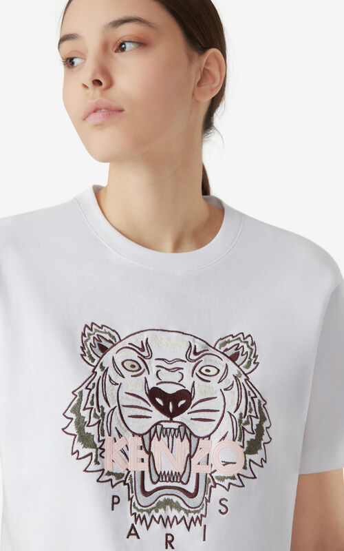 WHITE Tiger loose-fitting T-shirt for women KENZO