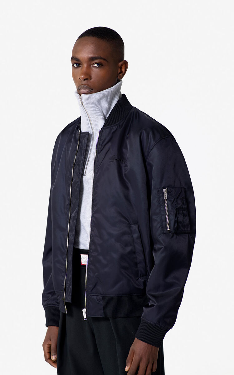 NAVY BLUE 'Bamboo Tiger' Bomber Jacket for men KENZO