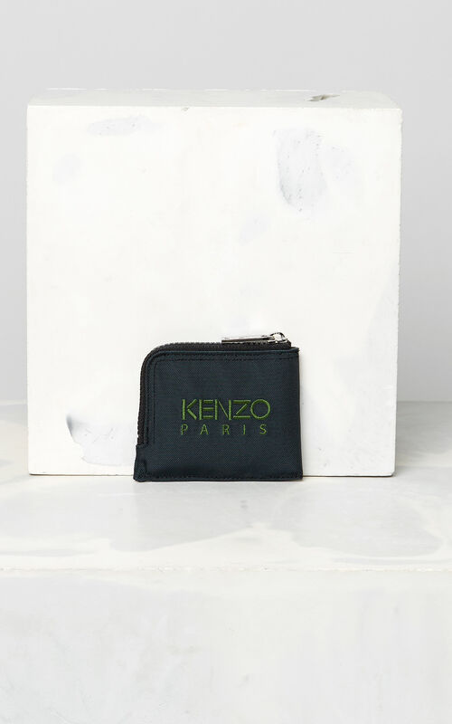 DARK GREY Zipped Tiger Purse for unisex KENZO