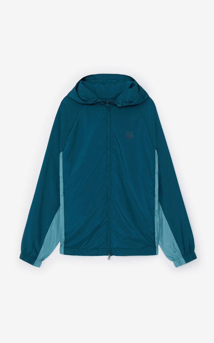 DUCK BLUE Zipped windbreaker for women KENZO