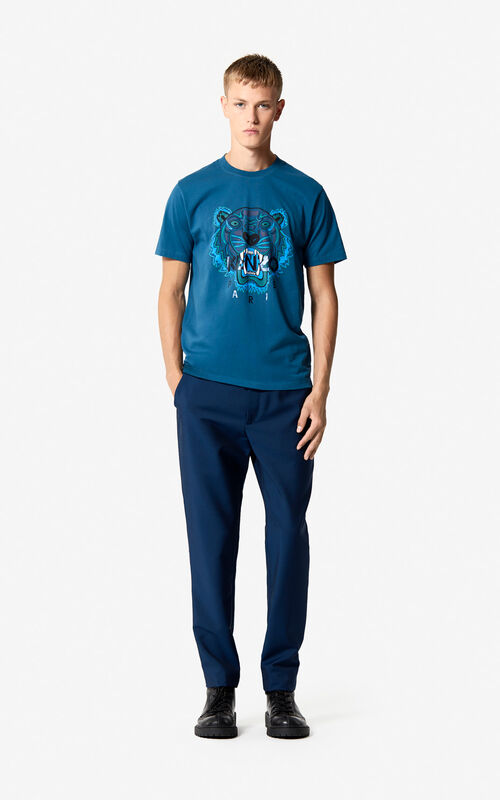 a80f1bdab9ee ... DUCK BLUE Tiger T-shirt  Holiday Capsule  for men KENZO