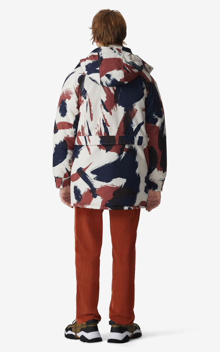 MOROCCAN BROWN 'Brushed Camo' parka for women KENZO