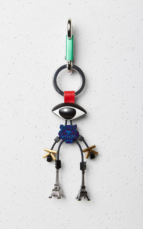 GRASS GREEN 'Monster icons' Keyring for women KENZO